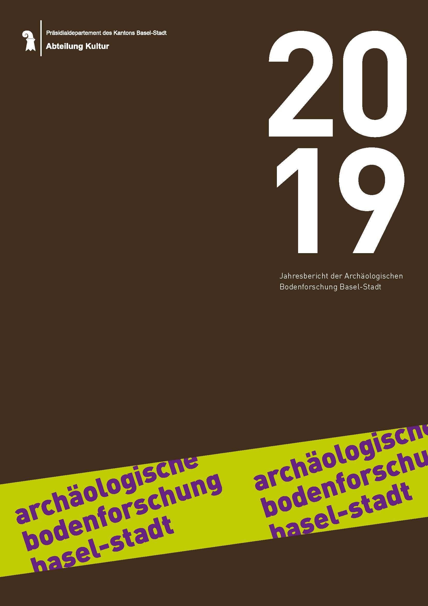 Cover vom Jahresbericht 2019